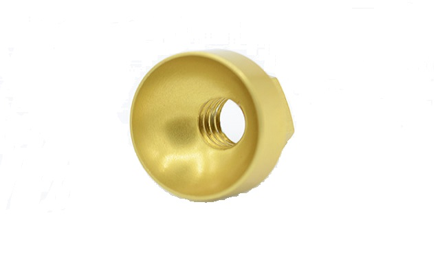 Dado emisferico M6 ergal colore oro M6 hemisferical nut aluminum alloy Tuerca hemiesférica M6 aluminio