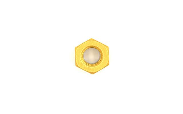 Dado M6 alluminio oro autobloccante