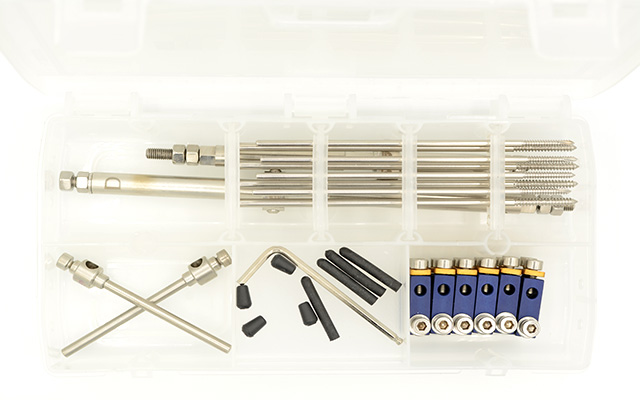 Dinamizable external fixator kit