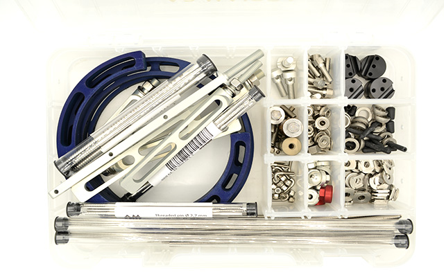 Maxi hybrid aluminium external fixation kit