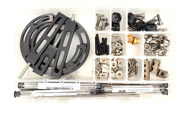 Midi hybrid radiolucent external fixator kit