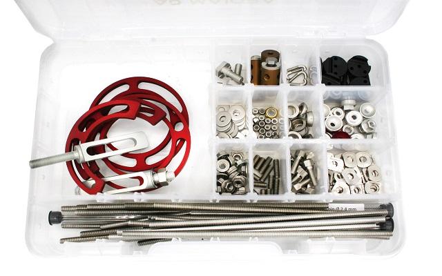 Mini hybrid aluminum external fixator kit