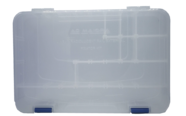 Container for rail external fixator kit